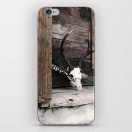 Golden Memoir, deer skull iPhone Skin