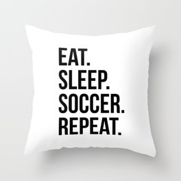 Eat sleep Throw Pillow