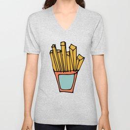 Fry Chips Unisex V-Neck