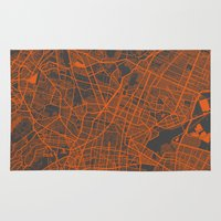 mexico Area & Throw Rugs featuring Mexico Map by Map Map Maps