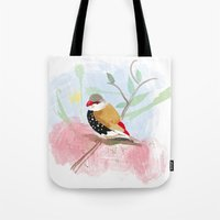 birdy Tote Bags featuring Birdy by Lorene R illustration