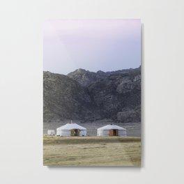 Seeing Double in the Gobi Metal Print