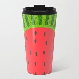 Sweet Summer Watermelon Red & Green Travel Mug