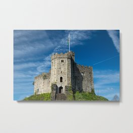 Motte-and-Bailey Keep of Cardiff Castle Medieval Fortifications Wales  Metal Print