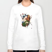 geisha Long Sleeve T-shirts featuring Geisha by Spooky Dooky