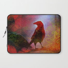 The clearing of king crow   ( collaboration with the talented artist Agostino Lo coco) Laptop Sleeve