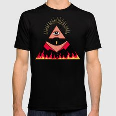 The All Seeing Eye Fieri  Mens Fitted Tee Black SMALL