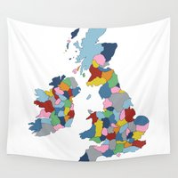 uk Wall Tapestries featuring UK by Project M