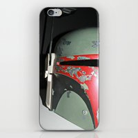 boba fett iPhone & iPod Skins featuring Boba Fett by McKenzie Nickolas