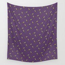Mini Liff Tiled (Purple) Wall Tapestry