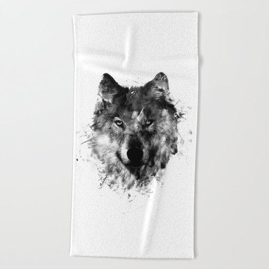 Wolf Like Me V2 Beach Towel