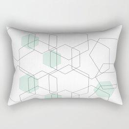 Modern Hexagon Design Rectangular Pillow