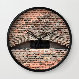 sibiu city romania traditional architecture detail roof tile eye Wall Clock