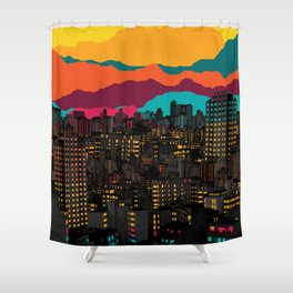 Fragmented III VI Shower Curtain