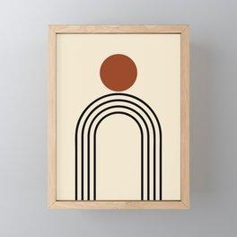 Simple Mid-Century Line Art #1 Framed Mini Art Print