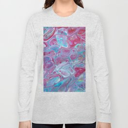 Fluid Nature - Marbled Candy - Abstract Acrylic Pour Art Long Sleeve T-shirt