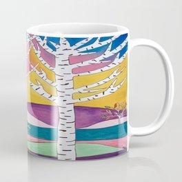 Landscape Art - Birch Trees Coffee Mug