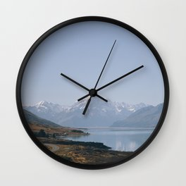 alpine lake Wall Clock