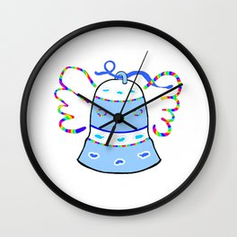 Blue Bell and Cloud Wall Clock