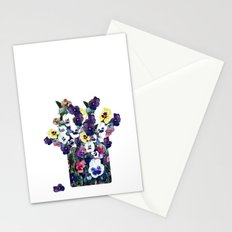 A pot of pansies Stationery Cards