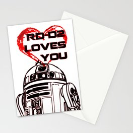 R2 -D2 Loves You Stationery Cards