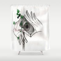 illuminati Shower Curtains featuring The Illuminati are real and running the entire american govt.  by Tex Bigrancher