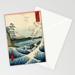Hiroshige - 36 Views of Mount Fuji (1858) - 23: The Sea off Satta in Suruga Province Stationery Cards