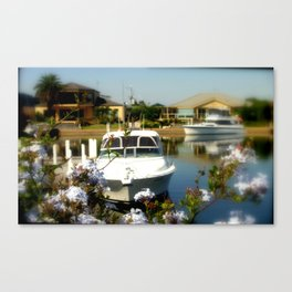 Mooring your Cruiser in the Backyard Canvas Print