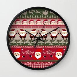Santa Claus Ugly Sweater Wall Clock