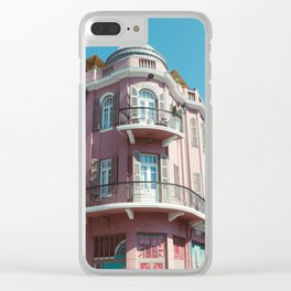 Pink Building Clear iPhone Case