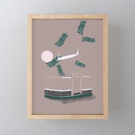 House at sunset Framed Mini Art Print