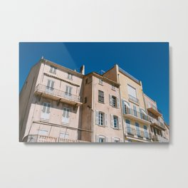 Saint Tropez Building Metal Print