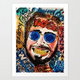 rockstar,rapper,rap,white iverson,stone,poster,fan art,wall art,dope,street art,graffiti,gold,pop Kunstdrucke