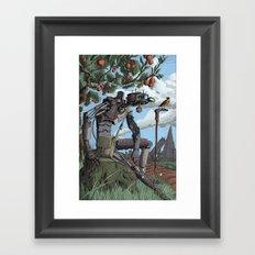 Johnny Apple-Droid Framed Art Print
