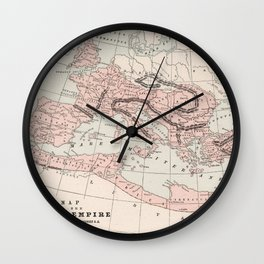 Vintage Map of The Roman Empire (1901) Wall Clock
