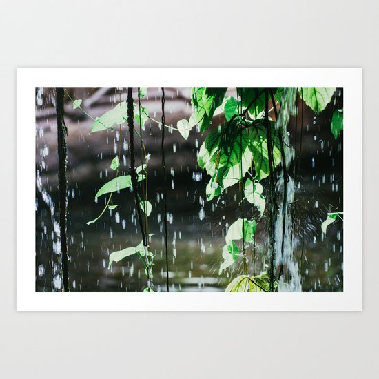 Behind A Waterfall Art Print