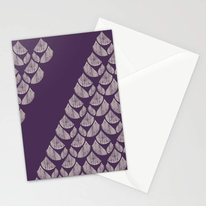 Purple drops Stationery Cards