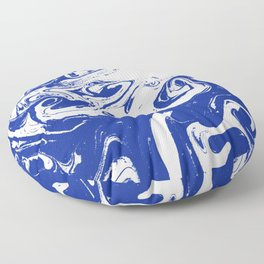 Marble blue 4 Suminagashi watercolor pattern art pisces water wave ocean minimal design Floor Pillow