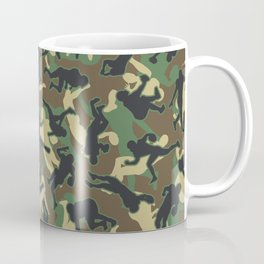 American Football Player Camo Woodland Camouflage Pattern Coffee Mug