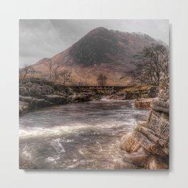 Bridge over the River Etive Metal Print