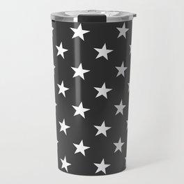 Black White Stars Travel Mug