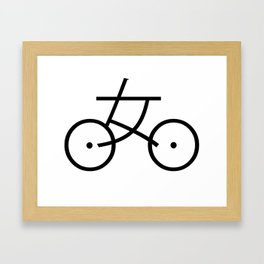 Kanji Bicycle Framed Art Print
