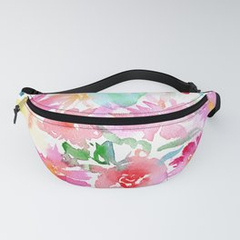 Blooming bouquet #2    watercolor Fanny Pack
