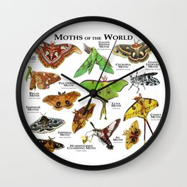 Moths of the World Wall Clock