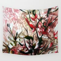 magnolia Wall Tapestries featuring Magnolia by ART de Luna