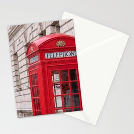 London Red Phone Booth Travel Photography Classic England Photo Stationery Cards