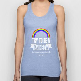Rainbow Maya Angelou Quote Unisex Tank Top