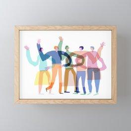 Transparent friends Framed Mini Art Print
