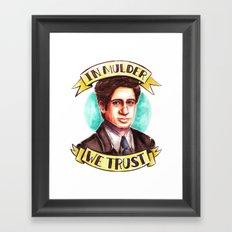 In Mulder We Trust Framed Art Print