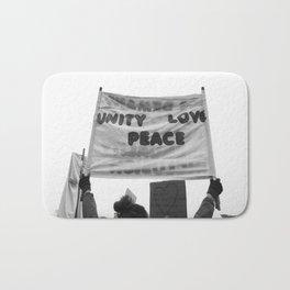 unity, love, peace Bath Mat